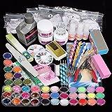 nagelstudio set,DancingNail Nagelset Starter UV Gel Acryl Powder Glitter Set Acryl Glitter Puder...