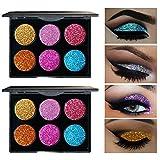 WYXlink 1 Stk Funkeln Glitzer Augen Schatten Pulver Palette Matt eyeshadow Kosmetik Make-up (A)
