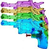 German Trendseller® - 6 x Revolver - Wasserpistolen Transparent ┃ NEU ┃ Mitgebsel ┃...