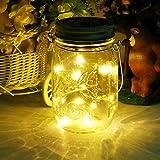 Mason Jar Licht Solar LED Glas Hängeleuchte Outdoor String Laterne Dekoration für Zuhause Party...