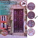Insektenschutzvorhang Blumen & Vögel magnetisch Fliegengitter Tür Insektenschutz Magnetvorhang...