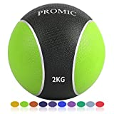 PROMIC Medizinbälle, 1 KG – 10 KG Gymnastikball, in 10 Farben, 2 KG – Apfelgrün