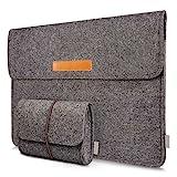 Inateck Filz Sleeve Laptop Schutzhülle, Umweltfreundliche Notebook Schutztasche kompatibel mit 15...