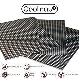 Coolinato 3 Hochwertige Silikon Backmatten (38x30cm) - Rutschfeste Dauerbackfolie für Backofen |...