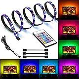 kdorrku 2M LED Streifen USB LED Strip Für Hintergrund TV Dekoration, USB Lichtleiste USB LED Band...