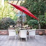 Gartenschirm mit Dreh-Kipp-Mechanismus Kurbelschirm Sonnenschutz UV-Schutz Sonnenschirm Ø 270CM,...