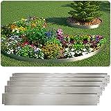 Rasenkante 5m 10m 15m 20m 30m 40m 50m 100x14cm oder 100x18cm verzinkt Beeteinfassung Beetumrandung...