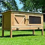 Zooprimus Kaninchenstall 24 Hasenkäfig - HASI - Stall für Außenbereich (für Kleintiere: Hasen,...