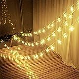 Dekorativ Lichterketten, 3M 30 LEDs LED Lichterkette Warmweiß String Licht Sternenlicht für Innen,...