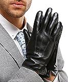 Harrms Herren Winter Handschuhe Echt Leder Touchscreen Gefüttert mit Kaschmir Lederhandschuhe,...