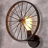 BAYCHEER Retro Industry Design Rad Wandleuchte im Loft-Style Esszimmer Vintage Wandlampe...