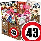 43 Geburtstag Geschenk DDR - Süssigkeiten Box mit DDR Waren + Geschenkverpackung 'Verkehrsschild...