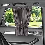 Sonnenschutz fürs Auto / Baby - mit Vorhang-Funktion für einfaches Auf- und Zuziehen | UV-Schutz -...