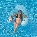 Jilong Water Sofa Canopy 103x96x38 cm Poolsessel mit Sonnenschutz-Dach und Getränkehalter...