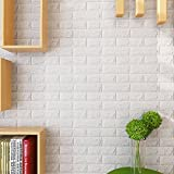 10pcs KINLO 3D Wandpaneele Selbstklebend Steinoptik Tapete 77 x 70 x 0.9 cm Wasserfest Ziegelstein...
