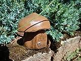 kleine 'Hobbit-/ Feenhaus in Pilz'- Gartenstatue