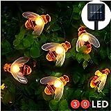 Solar LED Bienen Lichterkette, Mr.Twinklelight 30 LED Warmweiß Außen Wasserdichte lichterkette...