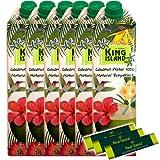 Kokoswasser - King Island - Coconut Water - 100 % - 6 x 1 Liter + 3 x Stevia Stick