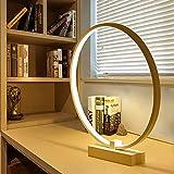 Kreis LED Tischlampe - ELINKUME LED Acryl Vollmond-Form Kunst Schreibtischlampe, Augenschutz...