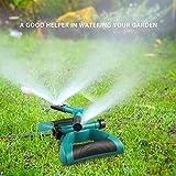 Garten Sprinkler, Automatische 360 Grad Rotierende Rasen Wasser Sprinkler 3-Arm Sprenger für...