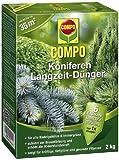 COMPO Koniferen Langzeit-Dünger für alle Arten von Nadelgehölzen und Immergrünen, 6 Monate...