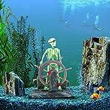 Dairyshop Aquarium-Figur, Skelett eines Piraten, Landschaftsdekoration
