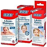 SOS Läusealarm-Set mit Läuseshampoo, Läusekamm und Läuse-Abwehr-Spray   Läuseset   Läusemittel...