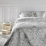 Set aus Tagesdecke und 2 Kissenbezügen – Große Größe – romantischer Stil – Farbe Grau und...