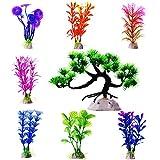 Künstliche Aquarium Plastik Pflanzen, 8 Stück