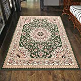 Carpeto Klassischer Orientteppich & Perserteppich mit Orientalisch Ornamente Muster Kurzflor in...