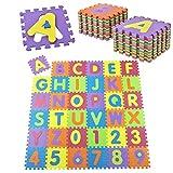 Kinder Puzzlematte 36 -teilig A bis Z und 0 bis 9
