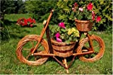 Fahrrad,Motorrad aus Korbgeflecht, 70cm, Rattan, Weidenkörbe, bepflanzen möglich, Fahrrad, Bike,...
