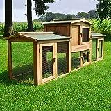 Zooprimus Kaninchenstall 1 XXL PL Hasenkäfig - SHERIFF - Stall für Außenbereich (für Kleintiere:...