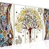 Bilder Gustav Klimt - Baum des Lebens Wandbild 200 x 80 cm - 5 Teilig Vlies - Leinwand Bild XXL...