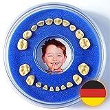 Milchzahndose Firsty Round (Blau, Jungen) ABF Deutsch