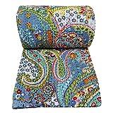Kiara indischen handgefertigt Quilts Baumwolle Floral Print Reversible Kantha Paisley Muster...