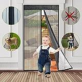 Fliegengitter Balkontür, fliegengitter Tür magnet insektenschutz, 90x210cm, fliegengittertüren...