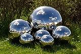 Köhko Dekokugel 4-100 cm poliert aus hochwertigem Edelstahl 48 cm Gartenkugel Edelstahlkugel...