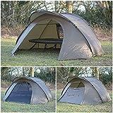 Quest Stealth Zelt, mit Faltdesign, für Übernachtung, für Karpfenangeln