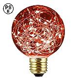 XinRong Dekoratives Leuchtmittel, Edison LED-Sternenhimmel, Kupferdraht-Lichter, E27Sockel 220V...