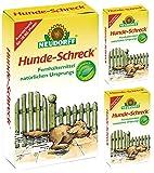 GARDOPIA Sparpaket: 3 x 300 g Neudorff Hunde-Schreck Fernhaltemittel + Gardopia Zeckenzange mit Lupe