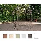CLP Metall Garten-Pavillon LEILA rund Ø 229 cm, Höhe 313 cm, Eisen, schlichtes, stilvolles Design...