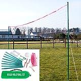 Beach Volleyball- Set. Volleyballnetz, Volleyball & Pumpe, Zubehör, Beachvolleyball, Netz...