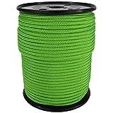 PP Seil Polypropylenseil SH 2mm 100m Farbe Fluorgrün (2000) Geflochten