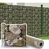 HG® 35mx19cm Sichtschutz Streifen Gartenzaun Folie PVC UV-bestädig für den Gartenzaun oder Balkon...