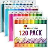 Buntstifte Set (120er Pack) von Zenacolor - Hochwertige Kunst-Buntstifte für Kinder und Erwachsene,...
