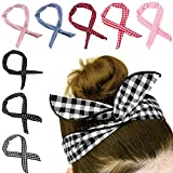 HBselect 8 Stück biegbares Haarband Bunny Ohr binden Bow StirnbandTwist Bow Wired Stirnbänder...