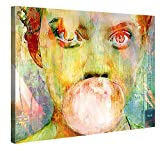 Gallery of Innovative Art Premium Leinwanddruck 100x75cm - Bubblegum Girl - Kunstdruck Von Joe...