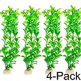 COMSUN Aquarium Pflanzen, 4 pack künstliche Aquarienpflanzen, Wasserpflanzen, Aquarium Dekoration,...