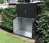 Trimetals Gerätebox, Aufbewahrungsbox, Multifunktionsbox, Fahrradbox Stowaway Anthrazit 138x89x113...